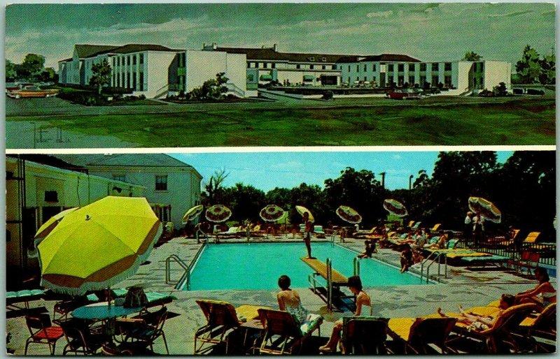Lexington, Kentucky Postcard CAMPBELL HOUSE HOTEL Swimming Pool Scene Roadside