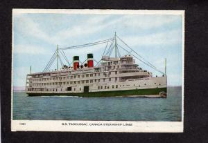 QC SS Tadoussac Steamer Steamship Steam Ship Quebec Canada Carte Postale