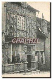 Postcard Old House Chateaudun rue Saint Lubin