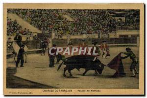 Old Postcard Bullfight Bullfight coat Passes (TOILEE map)