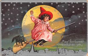 Halloween Post Card Old Vintage Antique 1910