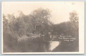 Princeton Illinois~Bureau Creek From Stimsons Bridge~Looking East~1905 RPPC