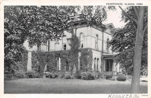 Algona IA Courthouse Wears Ivy Pants~1920s B&W To Grant Bayman of Guttenberg