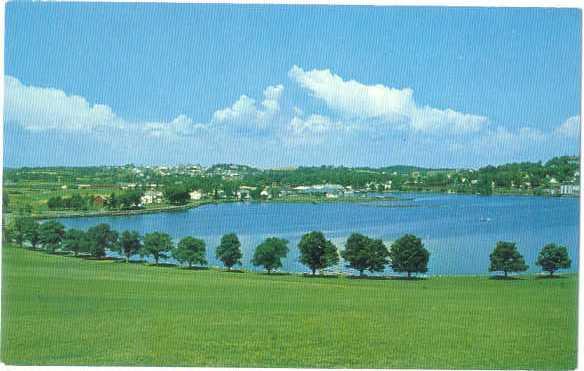Lunenburg Harbour from Golf Course Lunenburg Nova Scotia