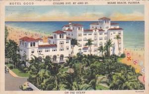 Hotel Good Miami Beach Florida 1938 Curteich