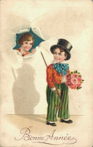 New Year Little Magician With Flowers 05.10