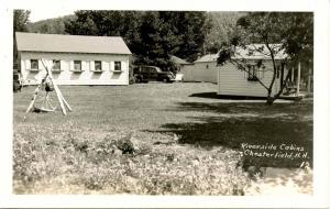 NH - Chesterfield. Riverside Cabins - RPPC