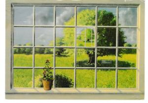 postcard THE WINDOW by Bjoern Richter Danish Artist