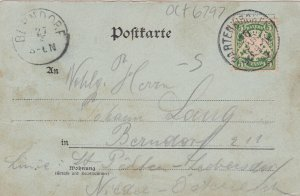 Gruss von Partenkirchen , Bavaria ,German , PU 1898