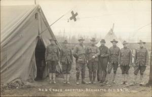 Beaudette Baudette MN Red Cross Hospital Soldiers 1910 Real Photo Postcard