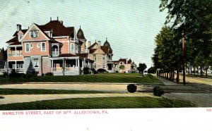 Allentown, Pennsylvania - The homes on Hamilton Street East of 16th - c1908