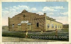 Louisville, KY, USA Postcard Post Card US National Army Cantonment, Camp Zac...