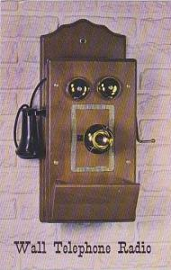 Early American Replica of Wall Telephone equipped with 5 tube Radio and Plant...