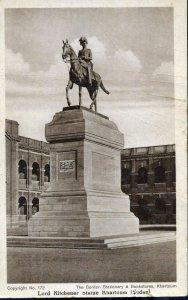 Postcard 'Lord Kitchener Statue, Khartoum, Sudan'