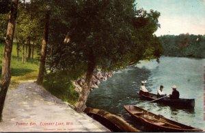 Wisconsin Elkhart Lake Boating At Turtle Bay 1908