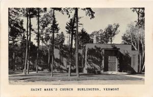 Burlington Vermont~Saint Mark's Church~c1950s Moss Photo RPPC-Postcard