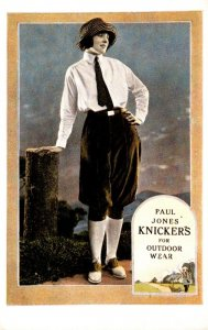 Advertising Paul Jones' Knickers For Outdoor Wear