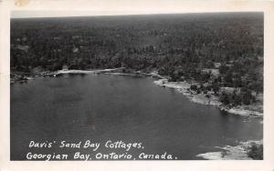 CANADA Ontario Postcard Photo RPPC 1948 GEORGIAN BAY Davis Sand Bay Cottage 163