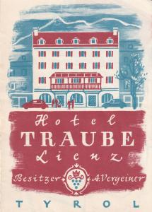 First Class Hotel Traube Tirol Tennis etc 1950s Advertising Guide Book