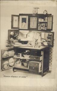 Hoosier Cabinet Hutch #1228 Advert Photo Card RPPC Blank Back myn
