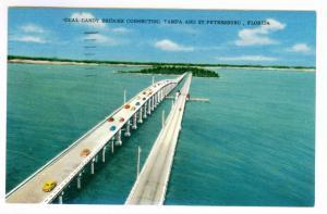Saint Petersburg, Florida to Westfield, Wisconsin 1958 used, Dual Gandy Bridges