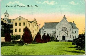 Mobile, Alabama Postcard Convent of Visitation Church Building / 1916 Cancel