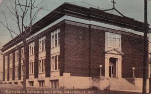 WELLSVILLE , New York , 1900-10s ; Catholic School Building