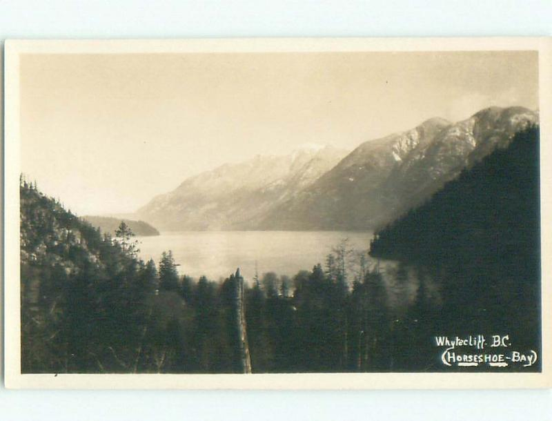 Pre-1949 rppc NICE VIEW Horseshoe Bay - West Vancouver British Columbia BC W1038