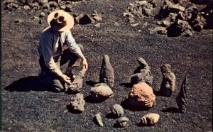 Geology Science Volcanic Bombs Crates of Moon Nat'l Park Postcard