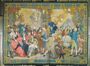 VANCOUVER, British Columbia, Canada, 1940-1960's; Gobelin Tapestry On The His...