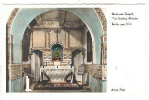 RP, Interior, Madonna Chapel 17th Century Mission, Santa Ines 1804, Californi...