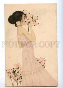 187662 Lady ROSES Flowers by RAPHAEL KIRCHNER old ART NOUVEAU