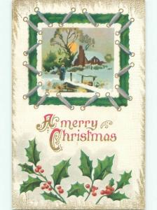Divided-Back CHRISTMAS SCENE Great Postcard W9696