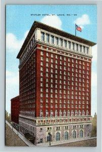 St Louis MO, Statler Hotel, Linen Missouri Postcard