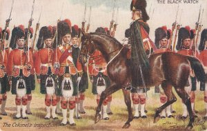 Hary Payne.The Black Watch. The Colonel's Inspection Tuck Oilette PC # 9994