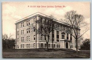 Carthage Missouri~High School~Fitzers Series~1910 B&W Postcard~Langsdorf PC