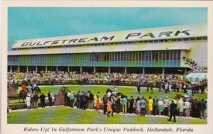 Florida Hallandale The Paddock At Gulfstream Park Near Miami Horse Racing