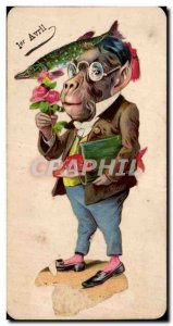 Festivals - Wishes - Fish of April - April Fool - monkey and fish Monkey - Ol...