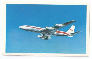 TWA Star Stream Boeing 707 Jet Airliner Airplane Vintage Aviation Postcard