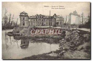 Old Postcard Pinon Entree Du Chateau Militaria