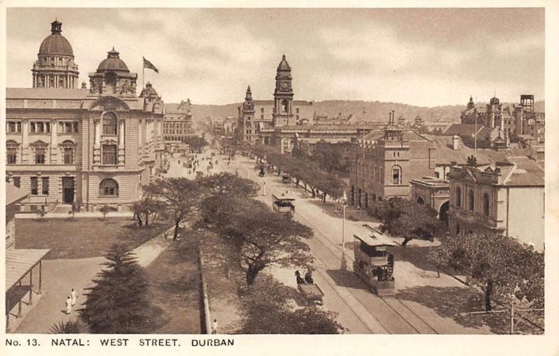 South Africa Durban, Natal: West Street, Trams, Animated