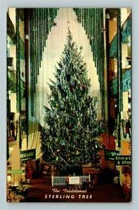 Columbus OH- Ohio, Sterling Linder Davis Christmas Tree, Chrome Postcard