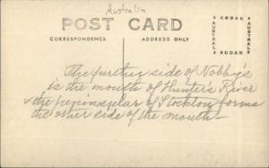 Nobby's Newcastle Australia Lighthouse c1915 Real Photo Postcard