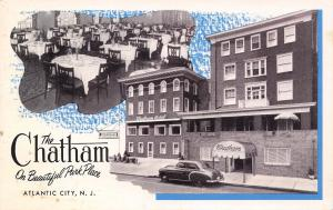 Atlantic City NJ~The Chatham~Park Place Hotel~Inside Out~Dining Room~1950s Car