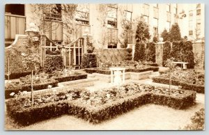 New York City~Rockefeller Center~Rooftop Garden of Holland~1940s RPPC