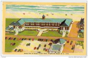 North Carolina Wrightsville Beach Ocean Terrace Hotel Aerial View, 30-40s