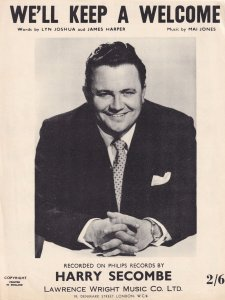 We'll Keep A Welcome Harry Secombe 1960s Sheet Music