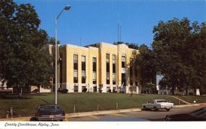 Ripley Tennessee~Lauderdale County Courthouse~1970s Cars~Postcard