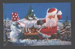 097066 SANTA & SNOW MAN play CHESS Old PC