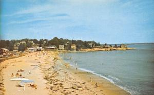 South Lyme Connecticut~Point O'Woods Beach~Kids Wading~Sedge LaBlang 1950s